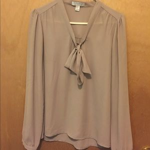 Forever21 tan bow top